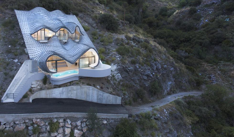 Unbelievable House On the Mountain Slope Overlooking Mediterranean Sea, Spain 1