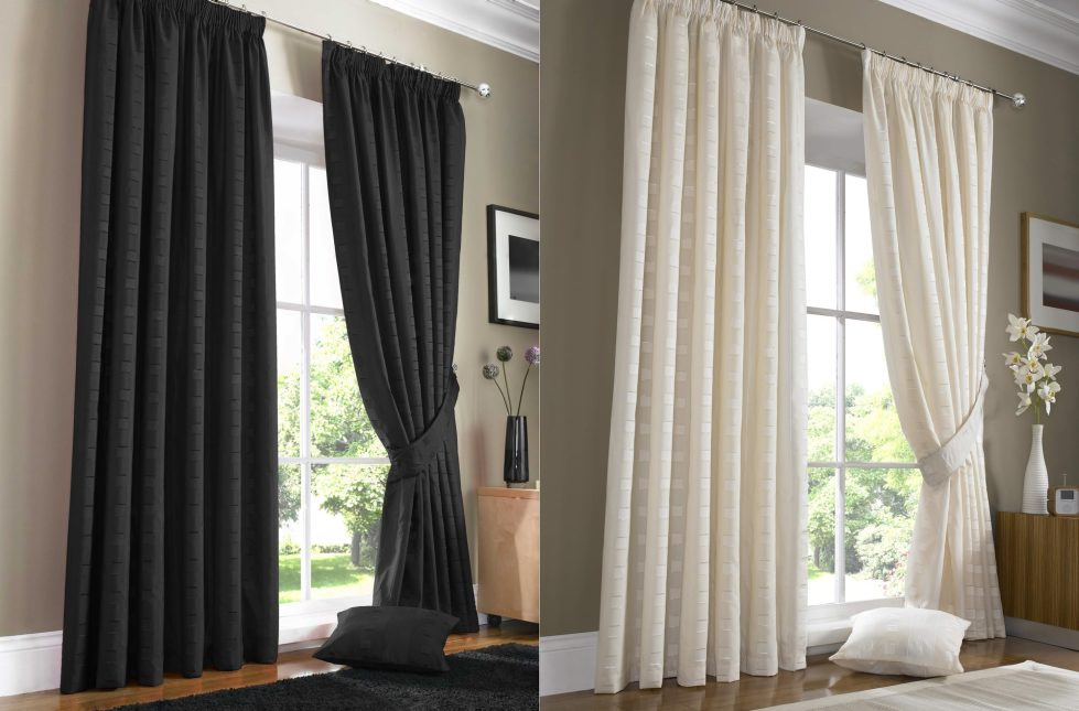 curtains for a living room in the high tech style