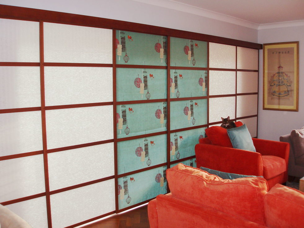 Japanese curtains living room ideas 2