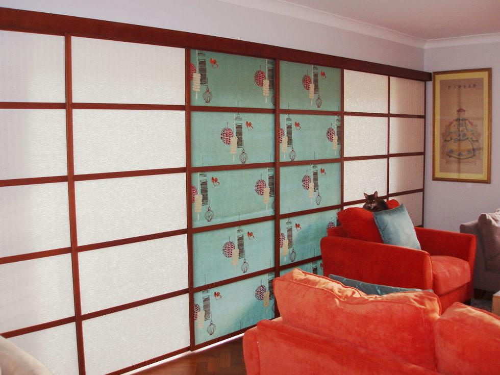 Japanese curtains living room ideas 2