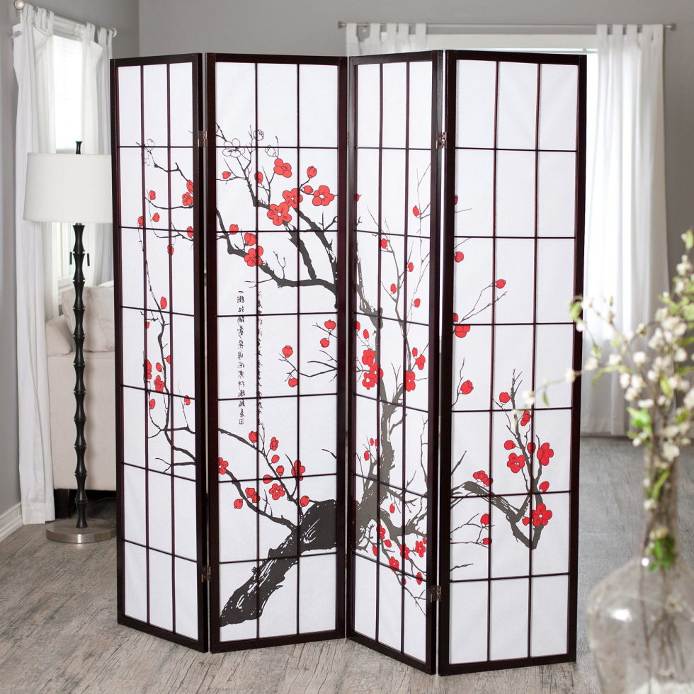 Japanese curtains living room ideas 8