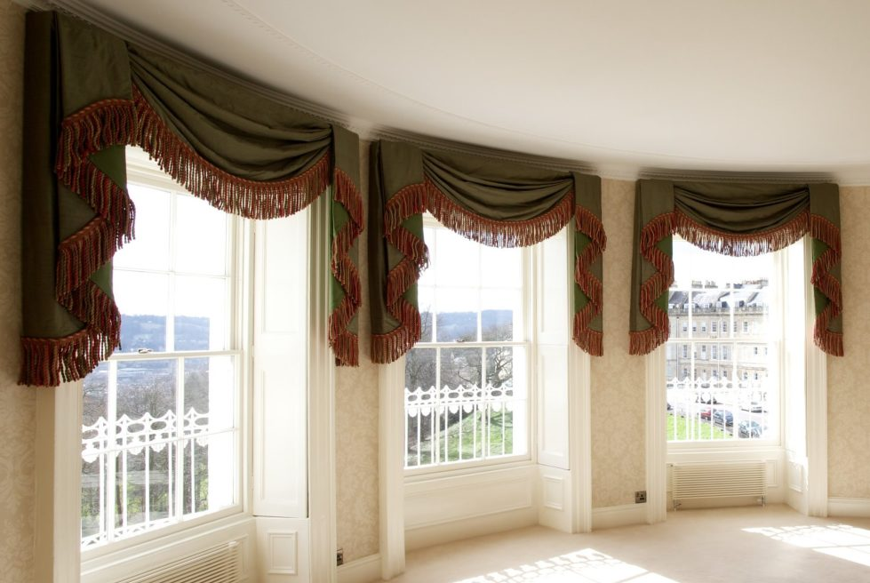 Living Room Curtains   Lambrequin Window Treatment