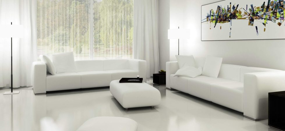 Living Room White Curtains Ideas