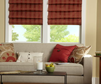 Living room curtains Roman style 7