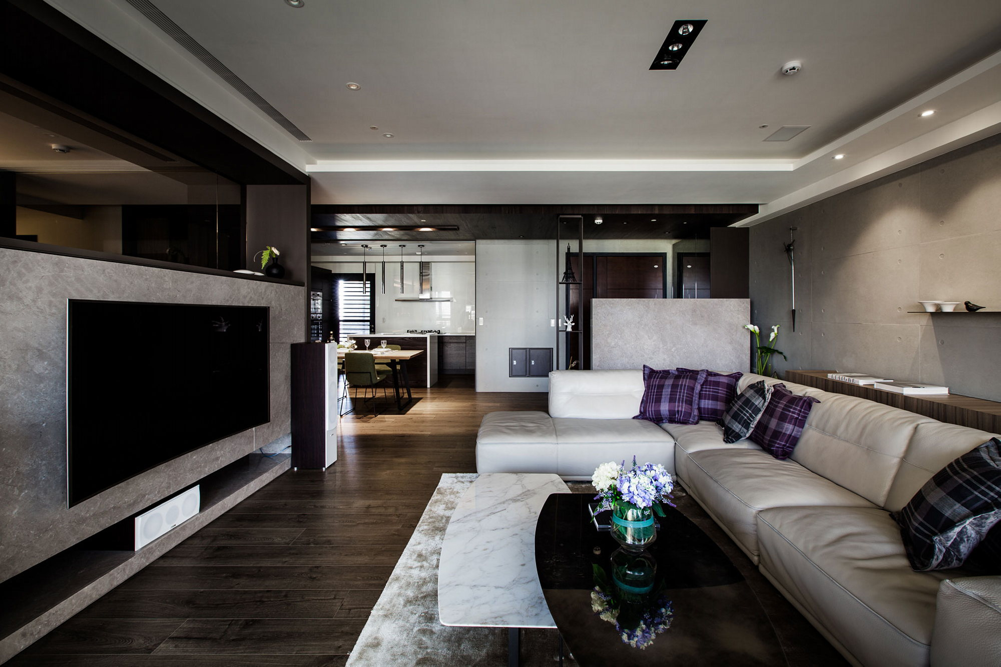Modern Apartments In The Minimalism Style At Taiwan