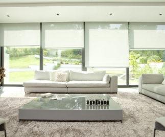 Roller curtains living room ideas 2