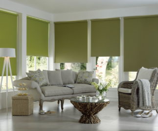 Roller curtains living room ideas 4