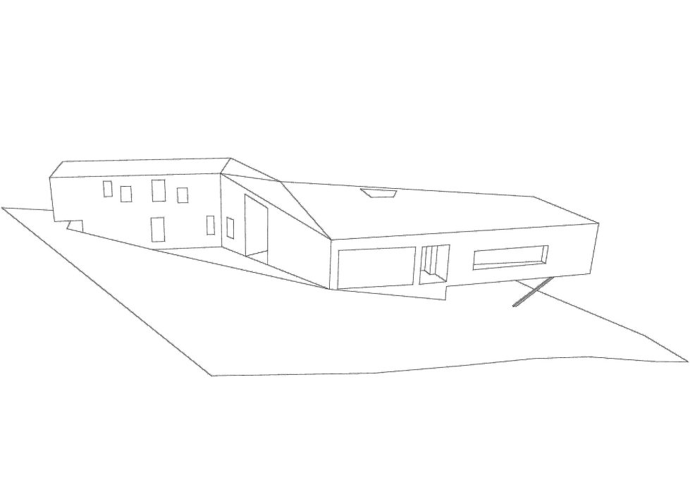 The House Overlooking The Pacific Ocean In Australia The Teeland Architects Project axonometric