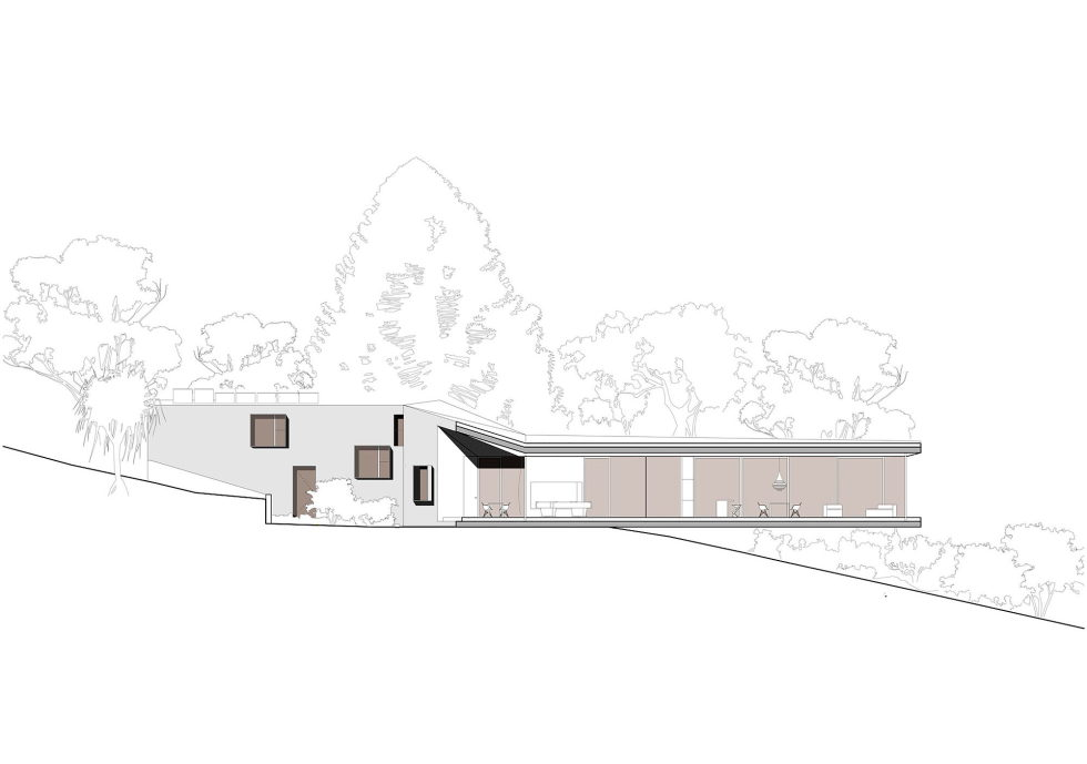 The House Overlooking The Pacific Ocean In Australia The Teeland Architects Project section