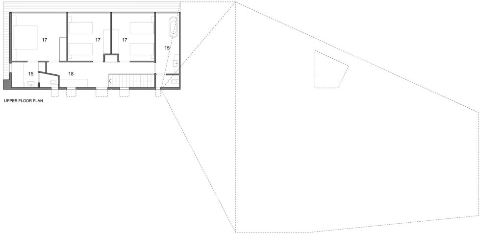 The House Overlooking The Pacific Ocean In Australia The Teeland Architects Project upper floor plan