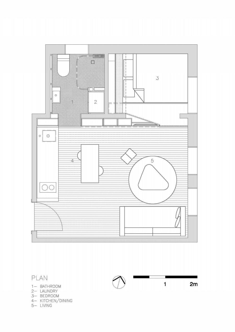 The Studio Of 27 Square Meters Plan 2