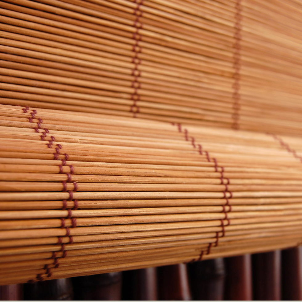 living room curtains – bamboo blinds 1