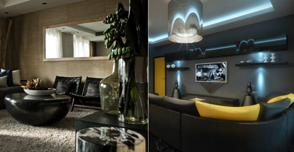 Dark shades for your living room interior - dark living room colors