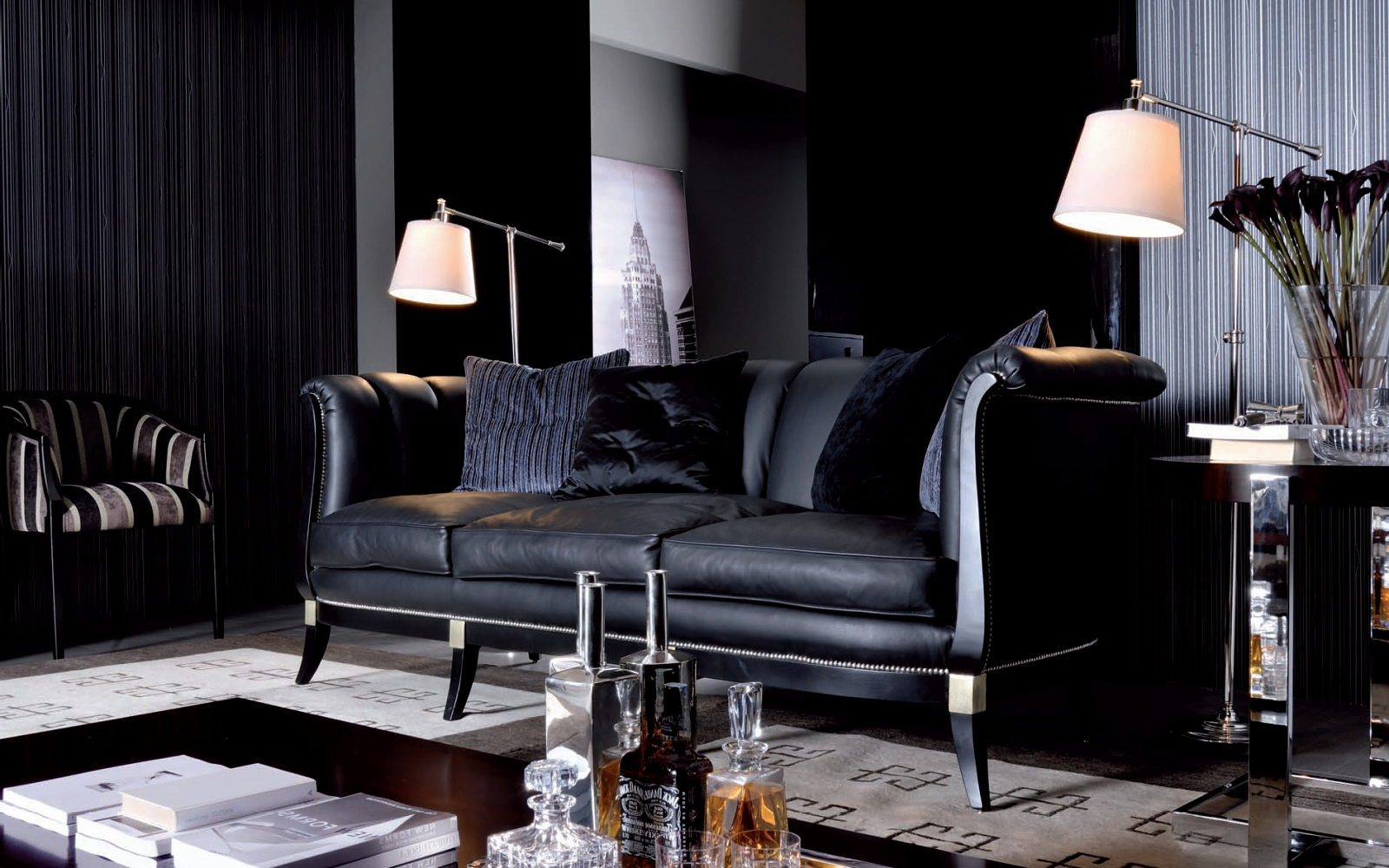 Dark shades for your living room interior - How to decorate your sitting room ...