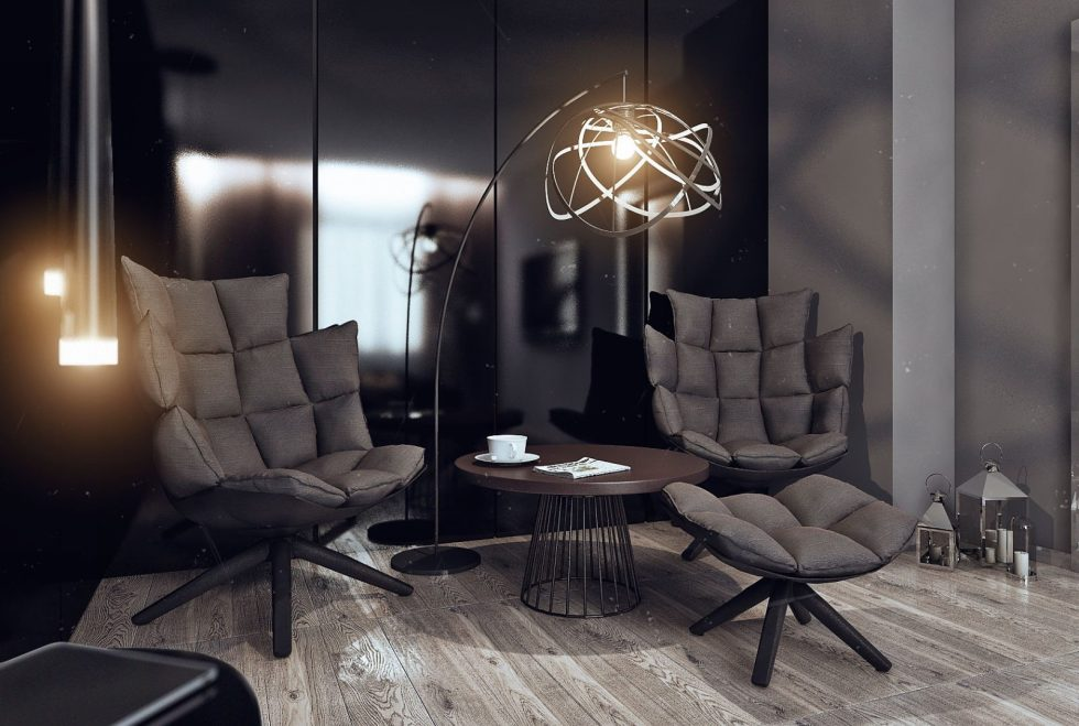 Dark living room lighting ideas