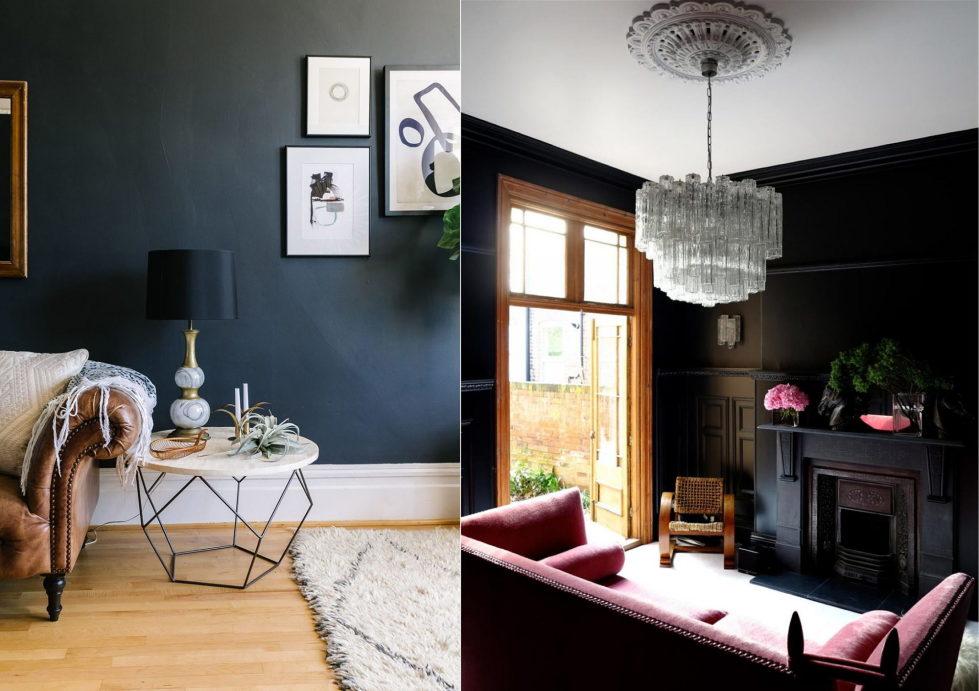 Dark living room paint colors