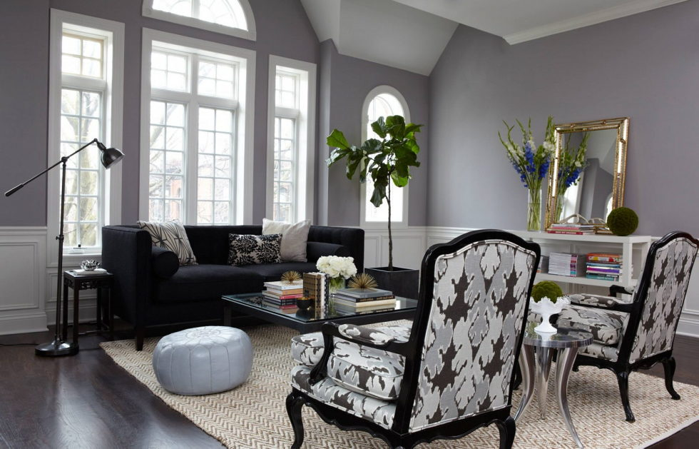 Dark Shades For Your Living Room Interior U2013 Cute Gray And Black Living Room