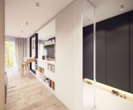 Designing project of the stylish apartments in Lodz 1