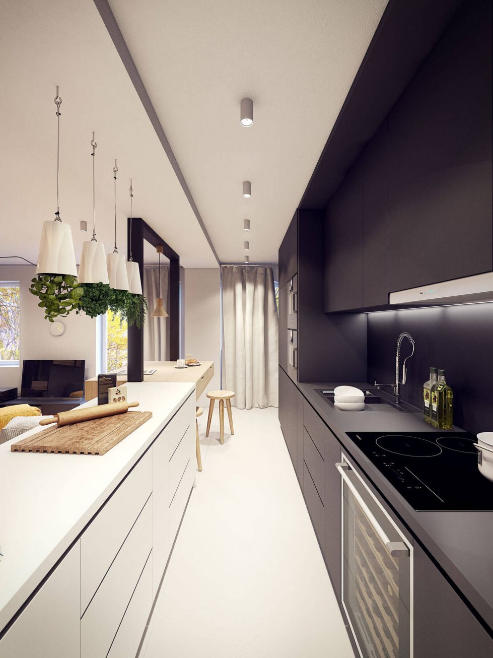 Designing project of the stylish apartments in Lodz 13