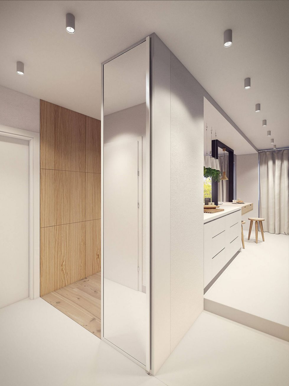 Designing project of the stylish apartments in Lodz 16
