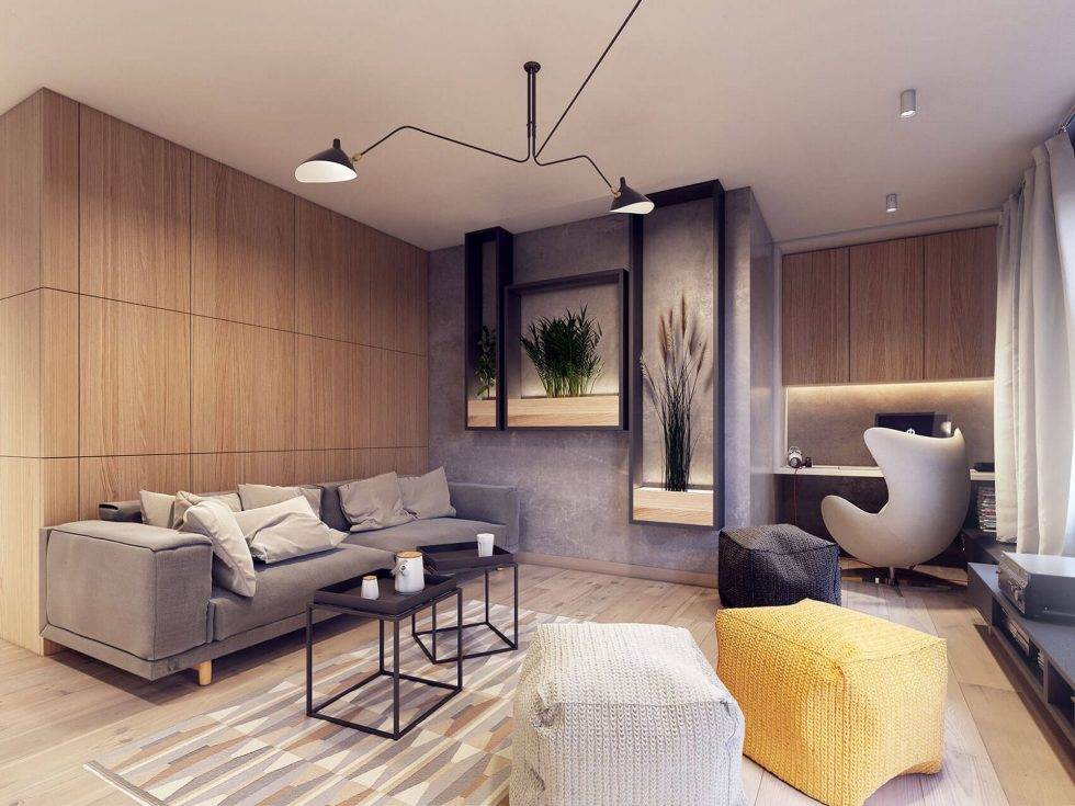 Designing project of the stylish apartments in Lodz 2