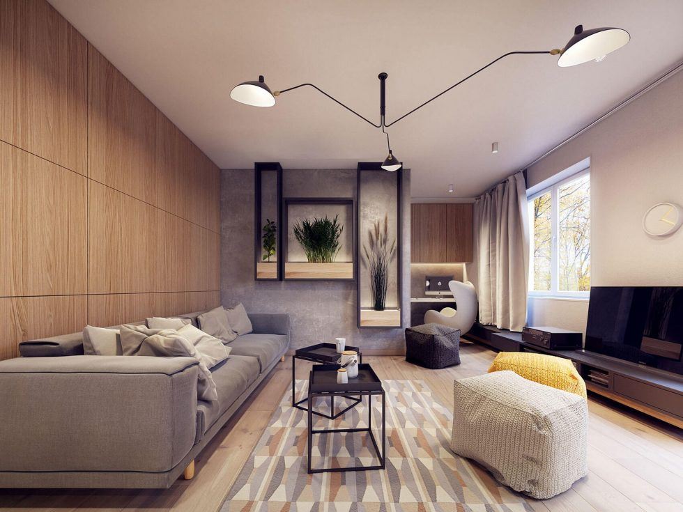 Designing project of the stylish apartments in Lodz 3