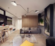 Designing project of the stylish apartments in Lodz 5