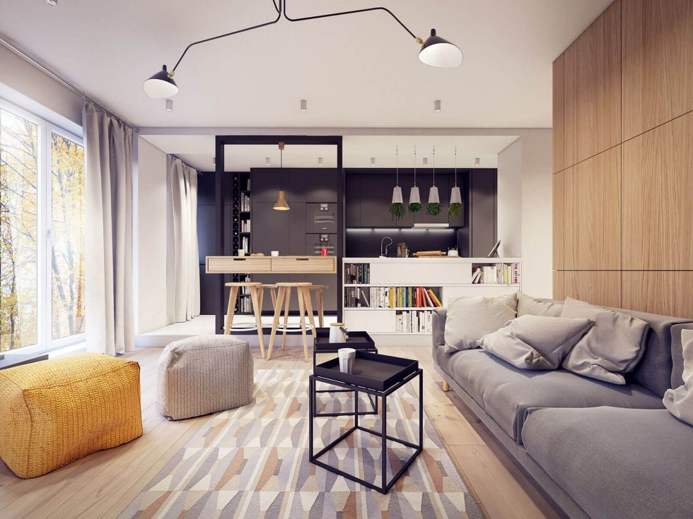 Designing project of the stylish apartments in Lodz 7