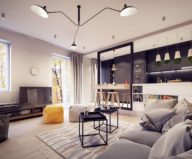 Designing project of the stylish apartments in Lodz 8