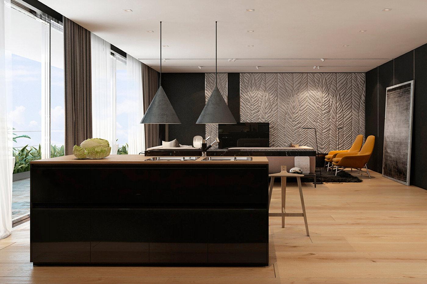 Gallery Of Cheap Apartments Tel Aviv Idea Interior Of Modern Apartments In Tel Aviv From Iryna Dzhemesiuk 3