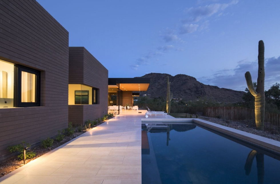 The house on a sandy hill in Arizona 2