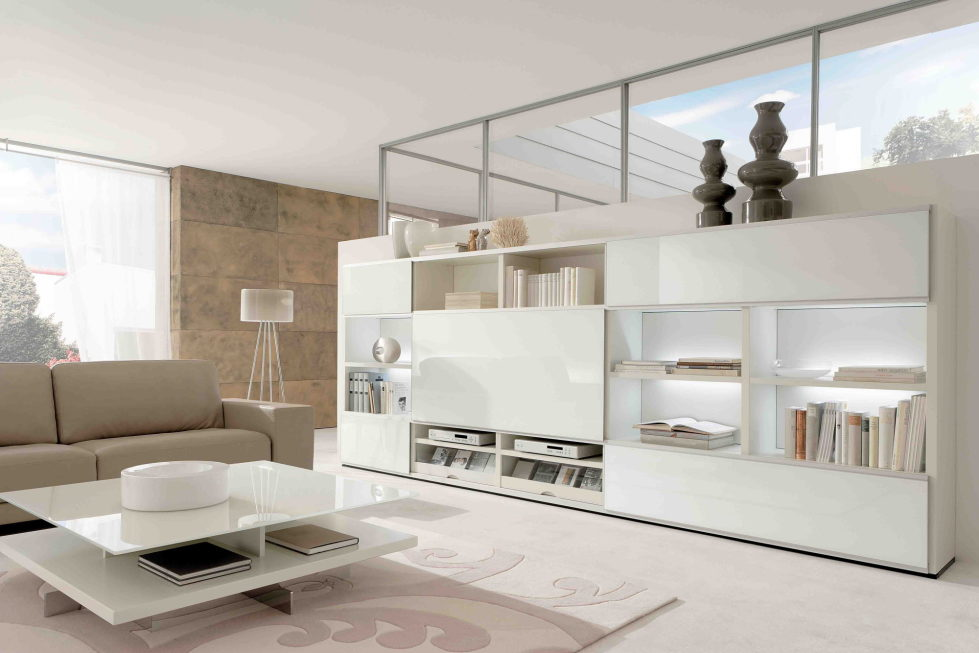 beige and white combination living room interior