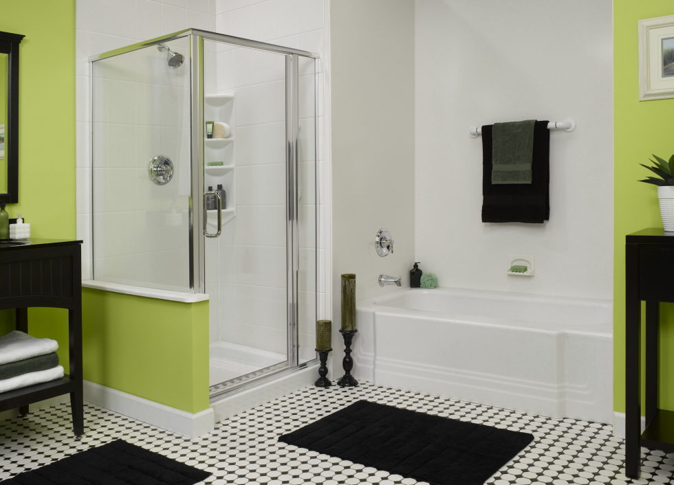 Combination of Gray and Green color in the interior