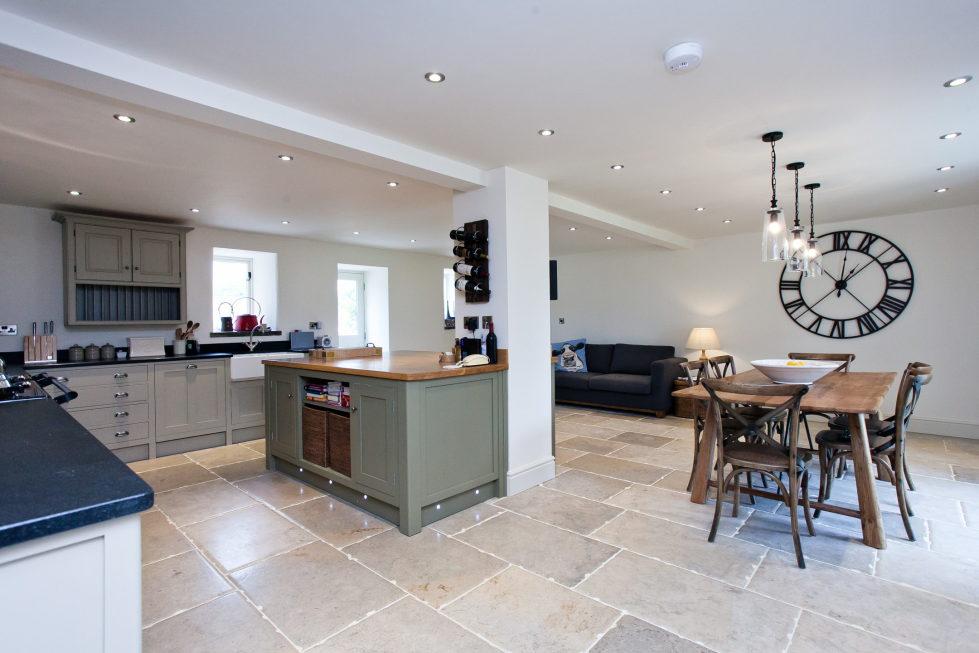 Gray and Beige kitchen interior