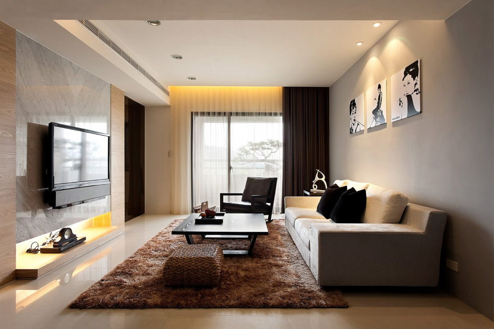 Grey color in the interior - Grey and Beige Living Room