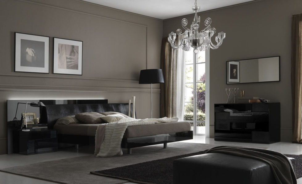 Shades of grey – bedroom interior