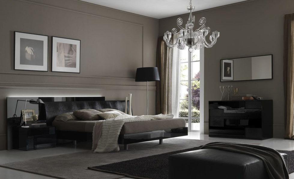 Shades of grey – bedroom interior