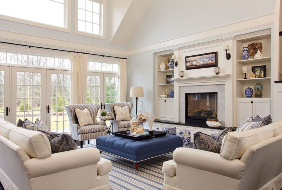 the country style and beige living room