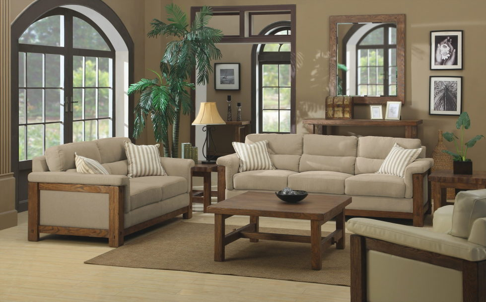 The Country Style – Beige and Brown colors Living room