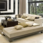 White Grey and Beige Living Room Interior