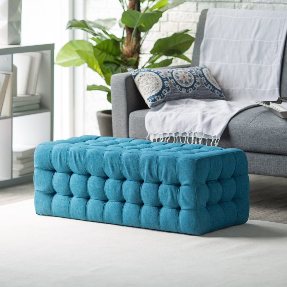 grey and turquoise colors in the interior