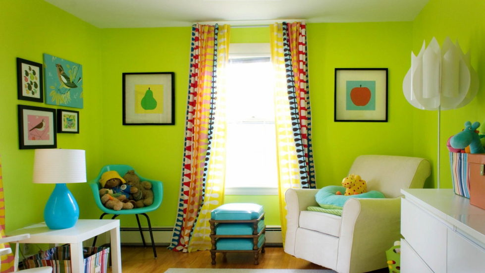 yellow and green nursery ideas