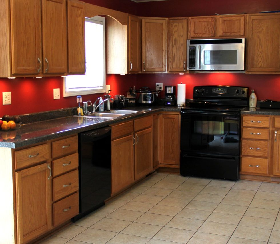 Decoration of The Kitchen in The Beige Color