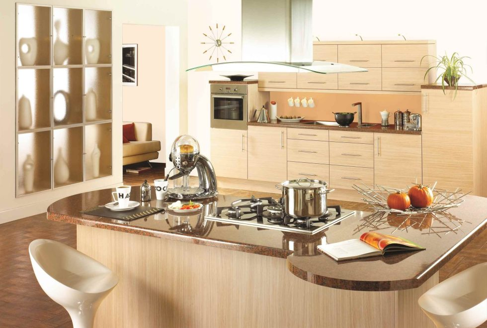 Kitchen interior in The Beige Color