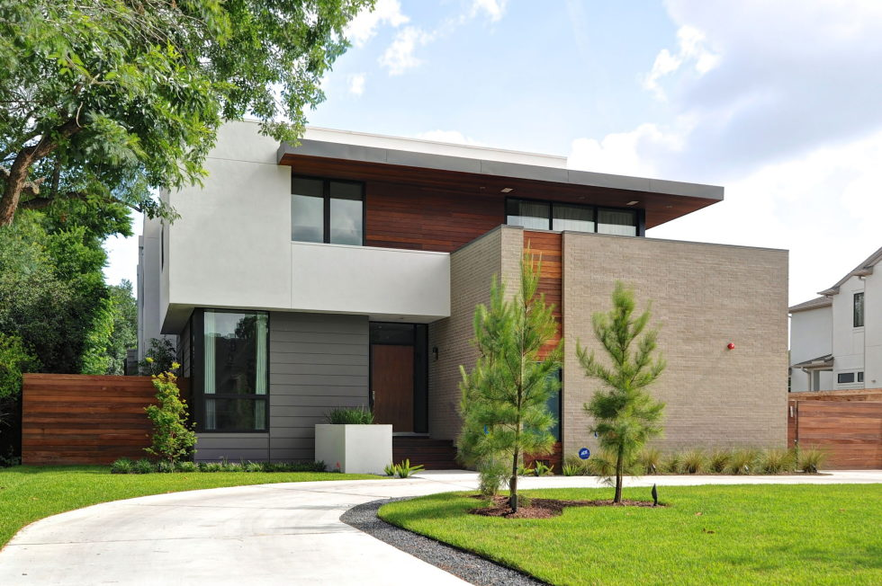 Modern house in houston from architectural firm studiomet for Contemporary modern style house plans