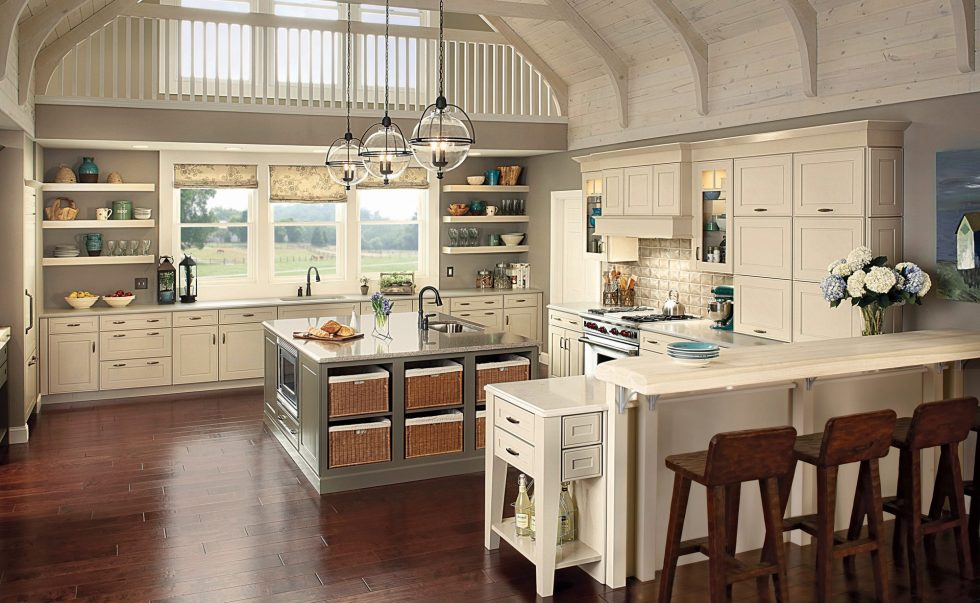 The Beige Kitchen in The Retro Style