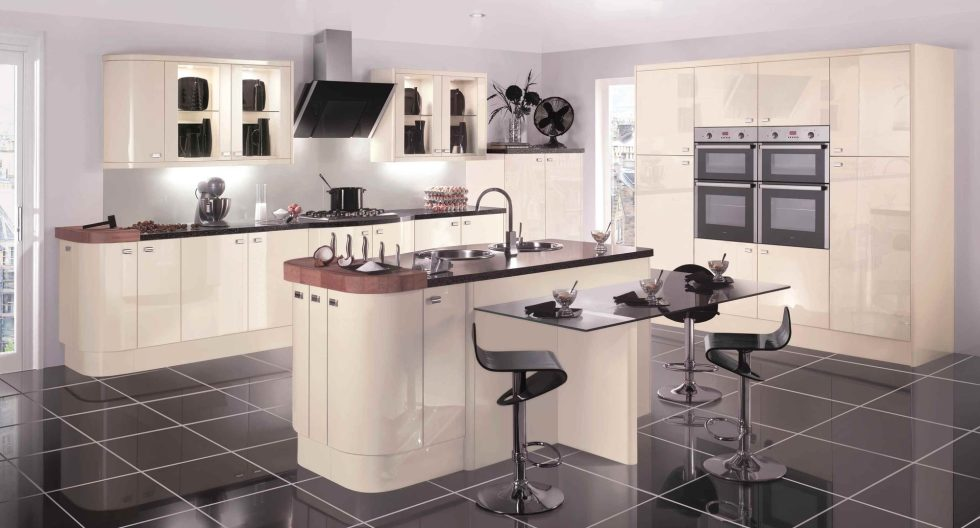 The Futuristic Kitchen in Beige Tones