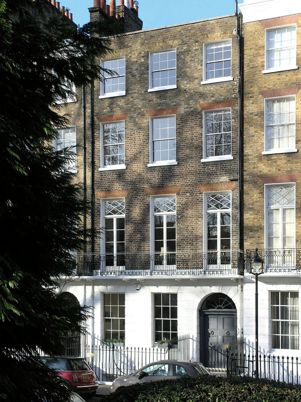 The restoration of the townhouse in London 15