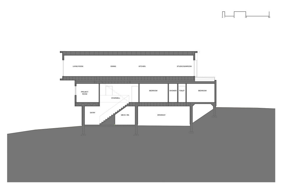 Fyren The Three-Stored House In Canada By Omar Gandhi Architect 25