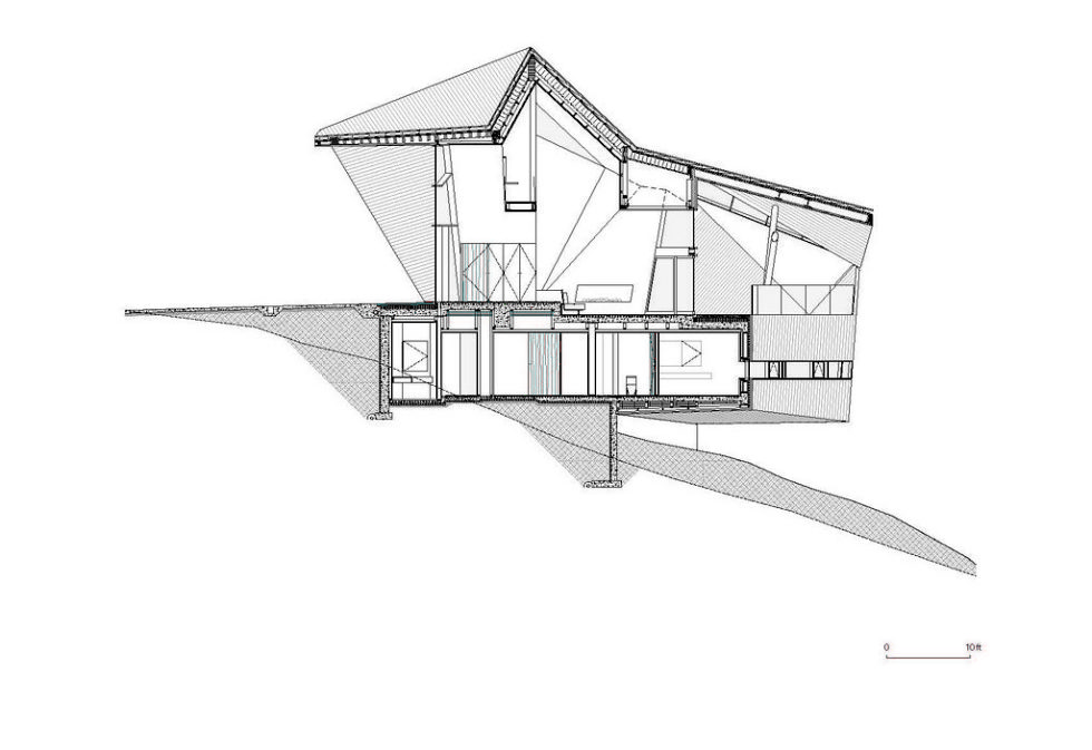 Modern country house upon the project of Patkau architects studio 34